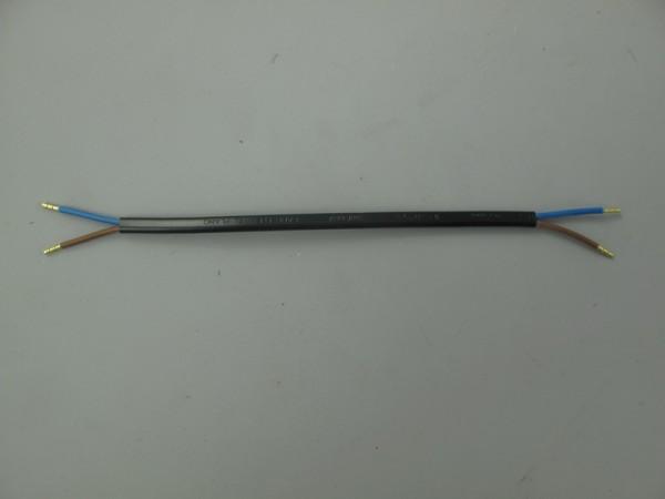 Kabel(Black)plat 2x0,75-20cm Aderendh.(25mm/open)
