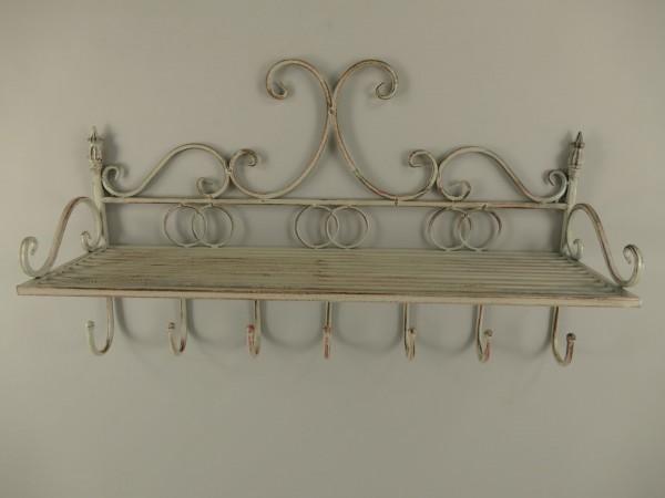 *ANG. Wandhaken/ablage Eisen Grau farbig L.62cm