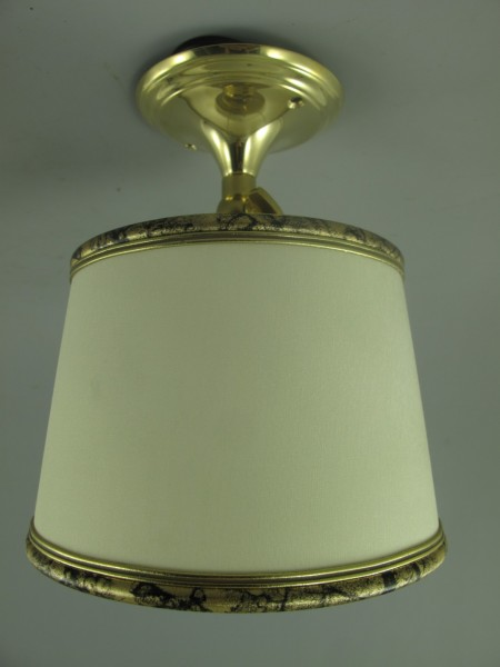 Lampe Messing mit Schirm(144.03W15) H.18cm