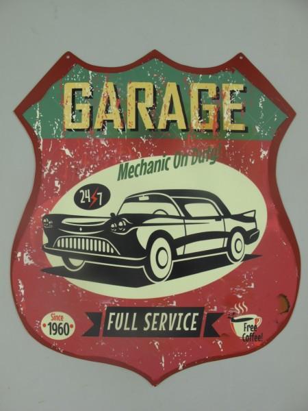 Wandschild Eisen Garage H.35x30cm