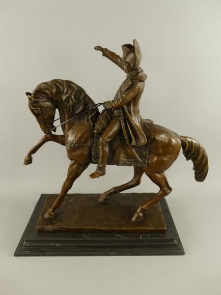 (*)Bronze Figur Napoleon auf Pferd H.62x62cm