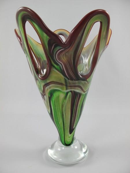 ?? Glas Vase farbe H.40-D.28cm