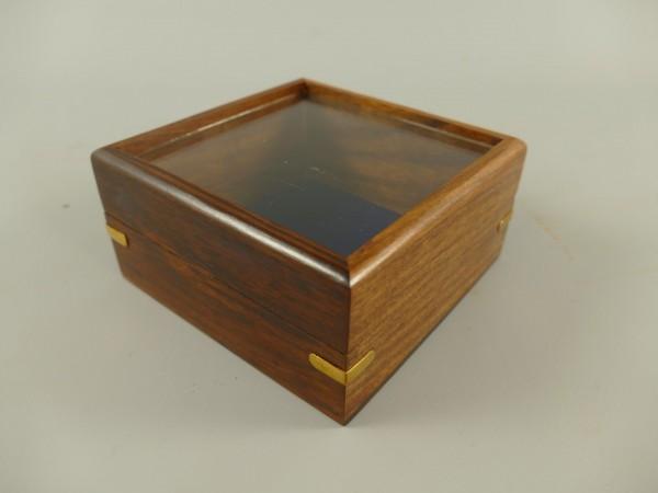 Holzbox mit glas deckel H.6x13x13cm