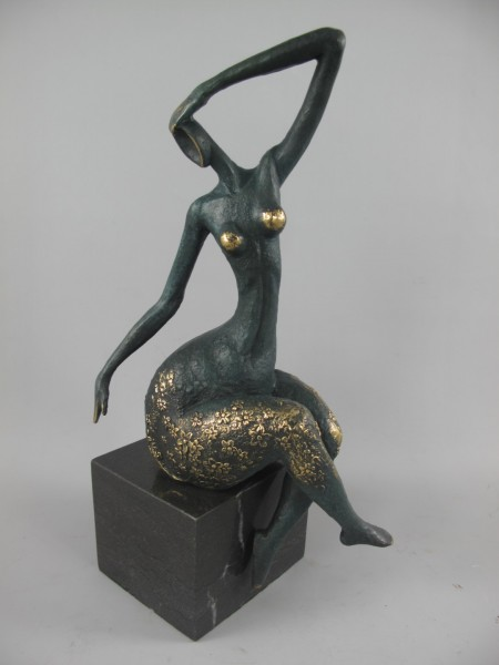 Bronze Figur Frau H.40x19cm