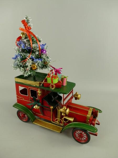 Auto Antik model + Weihnachtsbaum Eisen H.48x38cm
