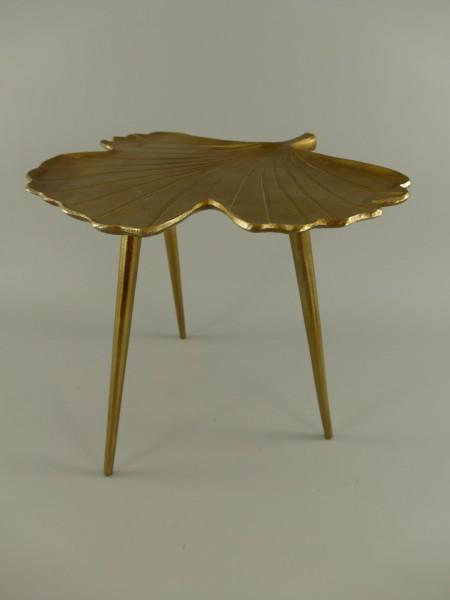 Tisch Alu brüniert H.47x50cm