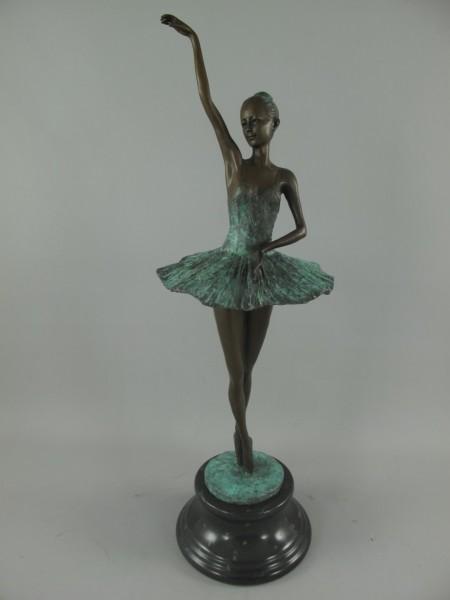 Bronze Figur TÄNZERIN H.69x20cm