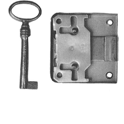 Hinterschloß Schlüssel Eisen Bronzefarb. Dorn/40mm