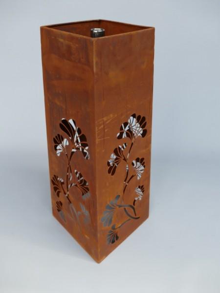 Gartenfackel/Öllampe Eisen röstig farbig H.55x22cm