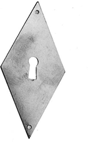 Beschlag Messing brüniert mit Loch 37x100mm