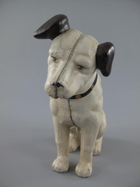 Hund Eisen farbig H.16x15cm