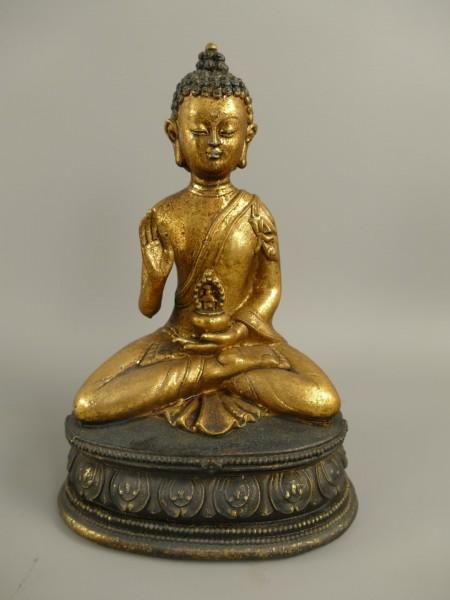 Buddha Sitz Polystein farbe H.23x15cm
