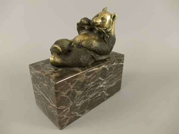 Bronze Figur Panda H.14x13cm