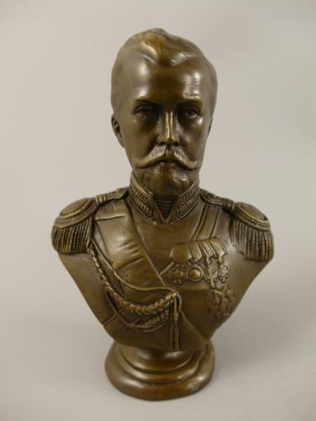 Bronze Figur Nikolai II H.14x10cm