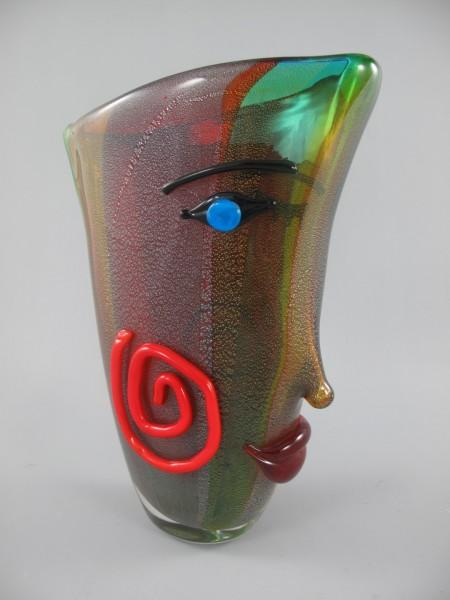 Glas Vase farbe H.36x26x11cm