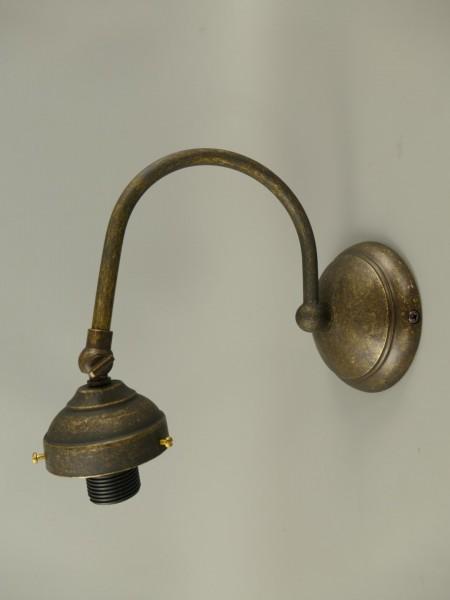 Wandlampe Messing brüniert ohne Schirm H.20cm