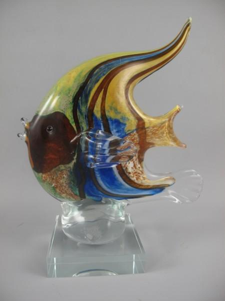 Glasfigur Fisch farbe H.21x17cm
