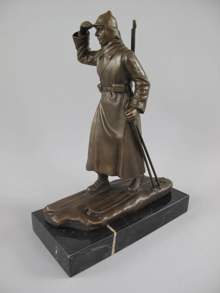 *ANG. Figur Bronze Russischer Soldat H.26x20cm