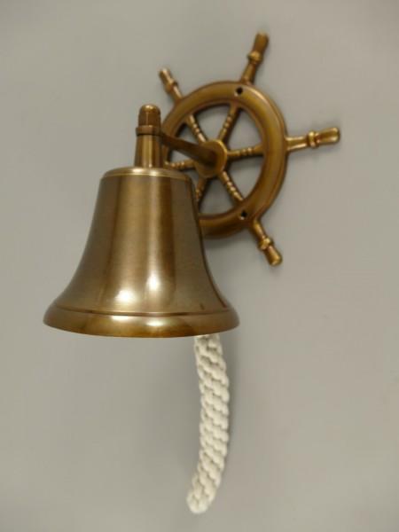 Glocke Messing brüniert Steuerrad H.20cm