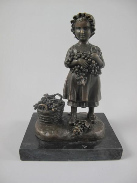 Figur Bronze BLUMEN LADY H.17x13cm