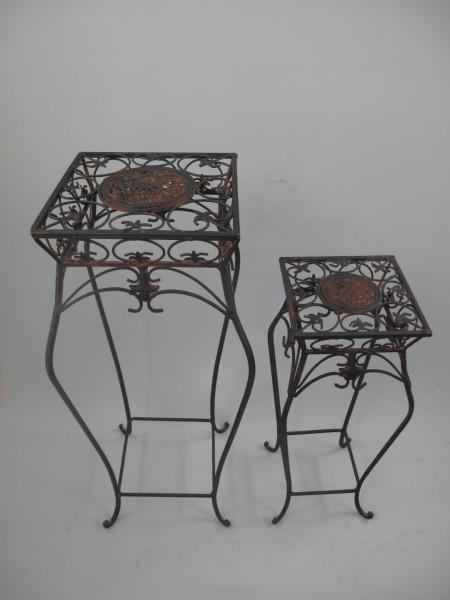 Tisch Eisen Rust. braun Set/2 H.70/55-D.29-20cm