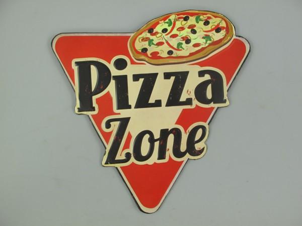 Wandschild(Gestanzt) Eisen Pizza Zone L.31x30cm