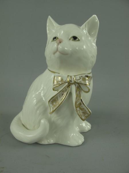 Porzellan figur Katze H.16x11cm