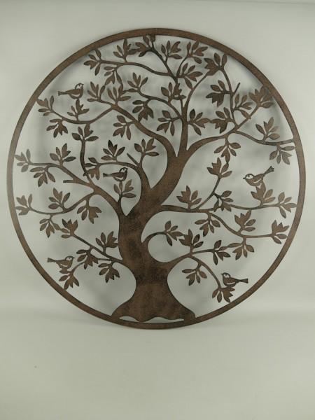 (*) Wand Ornament Eisen BAUM D.100cm