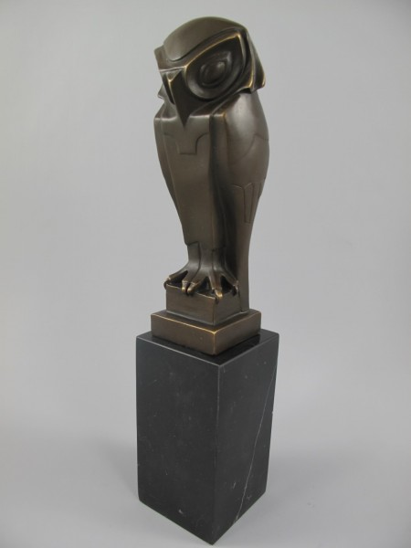 Figur Bronze Eule H.33x7cm