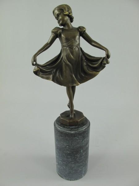 Figur Bronze Tänzerin H.32x12cm