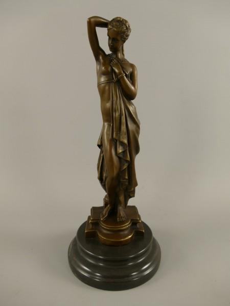 Bronze Figur Frau H.35x15cm