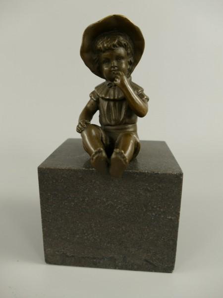 Figur Bronze Girl H.16x9cm