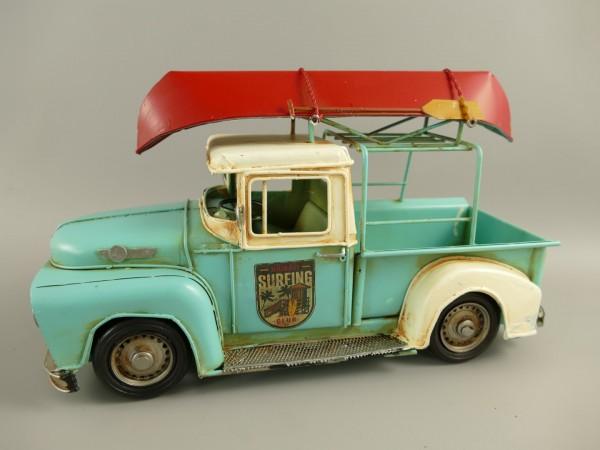 Auto farbig Antik Eisen L.32x15cm