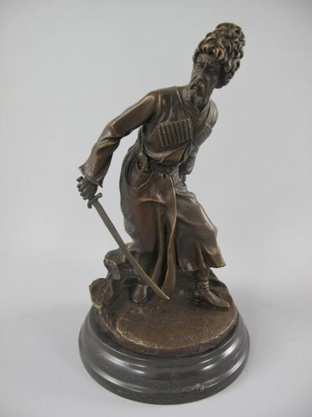 Figur Bronze Soldat COSSACK H.25x15cm
