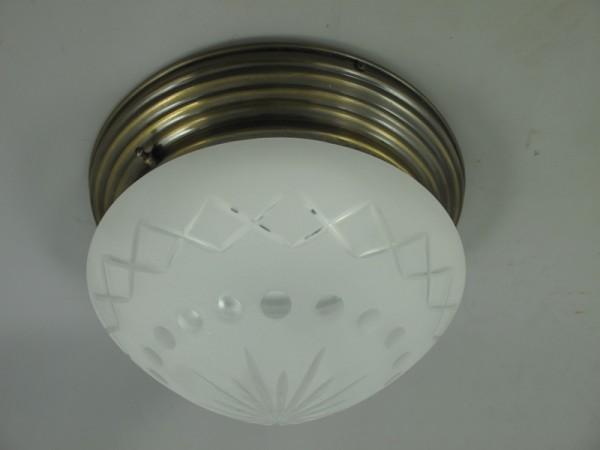Lampe Messing brüniert Schirm(215.030-5) H.20cm