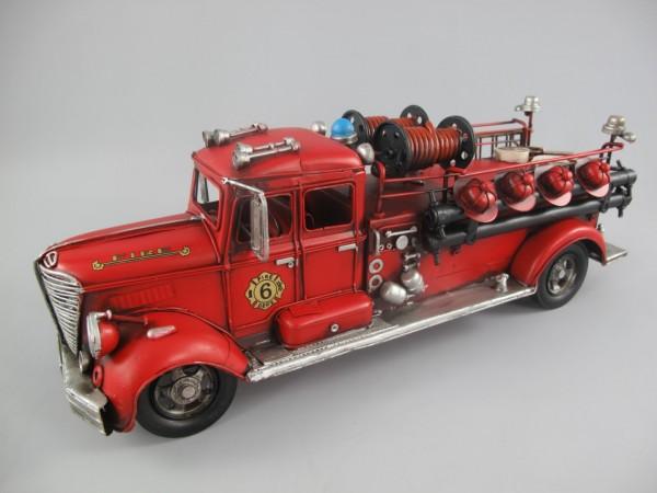 Feuerwehrwagen Antik Eisen L.50x18cm