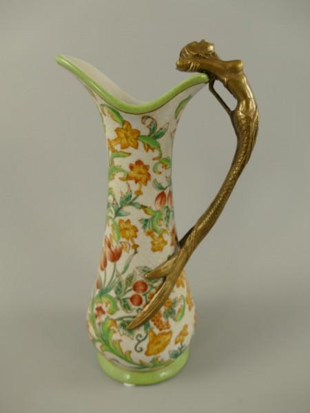 Vase Porzellan/Messing bunt H.25cm