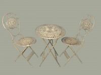 *NT 2xStuhl und Tisch OVAL!! eisen Farbig SET!