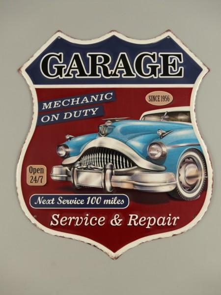 Wandschild Eisen Garage H.39x33cm