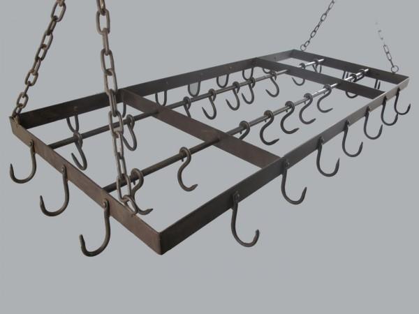 (*)Wildhaken(Pfannen) Eisen röstig farbig L.130cm