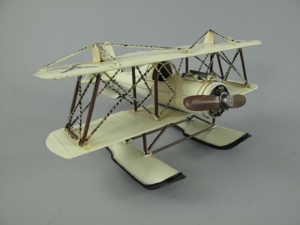 Wasserflugzeug Antik Eisen L.27x16x32cm