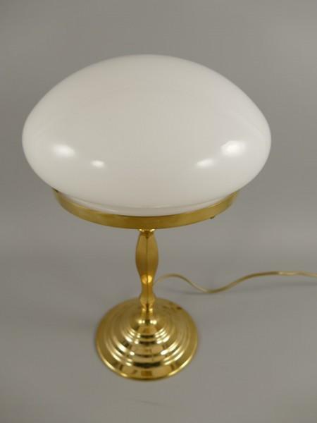 Pilzlampe WEISS Messing Schirm(215.050-25) H.38cm