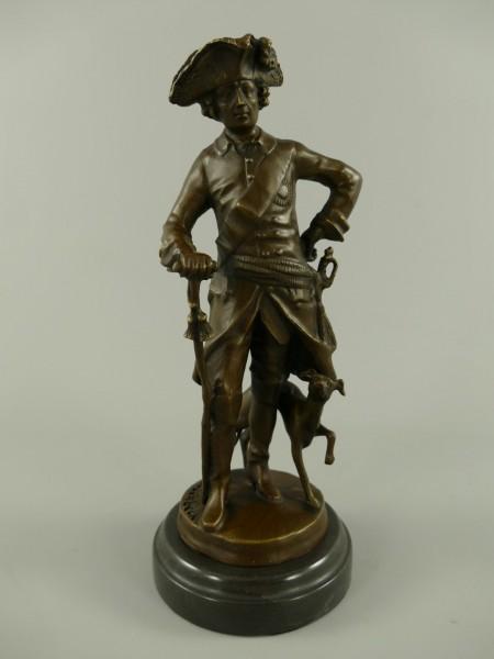 Bronze Figur Friedrich II H.30x12cm