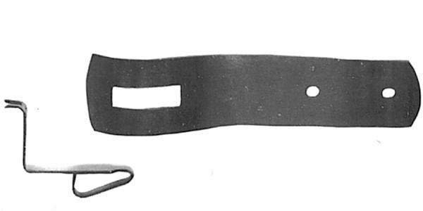 Schrankfeder 2 teilig Eisen L.100mm