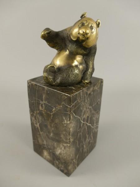 Bronze Figur Panda H.21x8cm