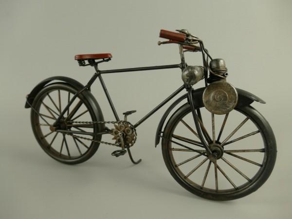 Antike Fahrrad mit Hilfsmoto Antik Eisen L.30x15cm