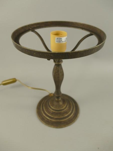 Pilzlampe FUSS Messing brüniert (OHNE GLAS) H.37cm