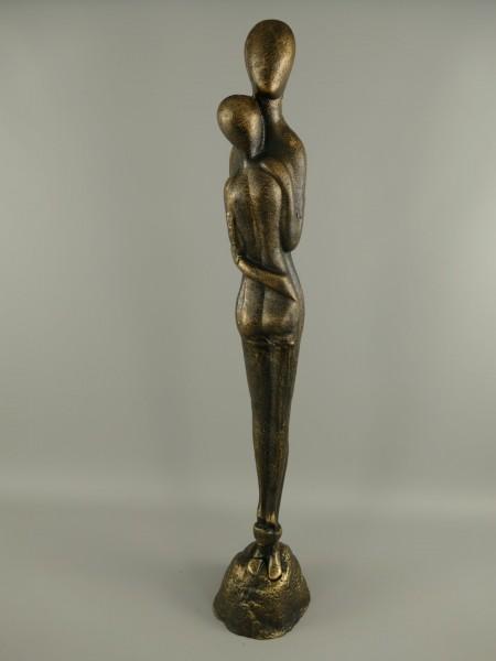 Skulptur eines Umarmen paares Gusseisen H.93x17cm