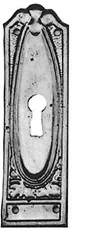 Beschlag Messing brüniert mit Loch 27x90mm
