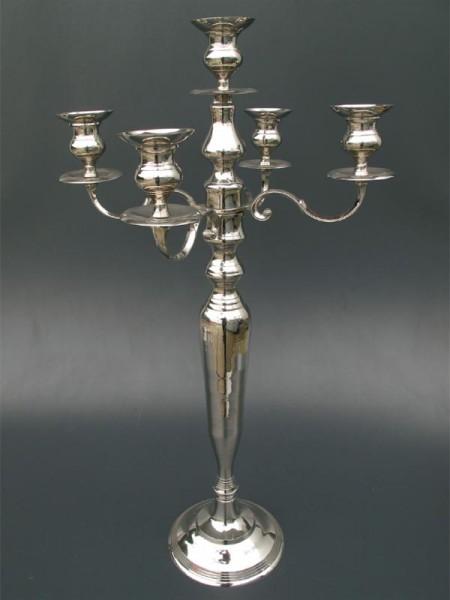 Vernickelt. Leuchter 7-flammig H.150cm Auf Anfrage